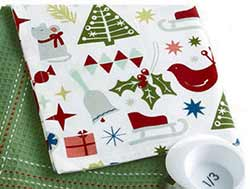 Happy Holidays Dishtowel - Printed