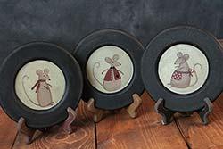 Winter Mice Plates (Set of 3)