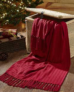 Classic Christmas Woven Throw