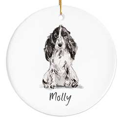 Cocker Spaniel Personalized Ornament - Black