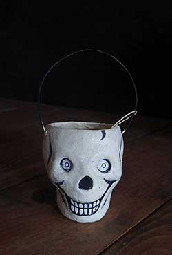 Skull Mini Glittered Bucket