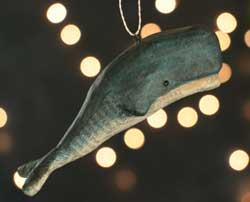 Whale Recycled Paper Ornament