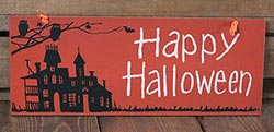 Primitives By Kathy Happy Halloween Sign