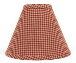 Newbury Red Gingham Lamp Shade - 10 inch