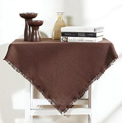 Burlap Brown Tabletopper/Tablecloth - 40 x 40