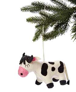 Cow Wool Ornament
