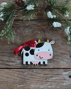 Cute Cow Personalized Ornament