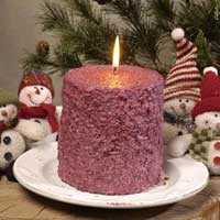 Cranberry Cake Candle