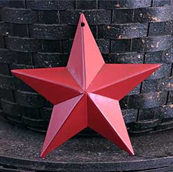 Cranberry Red Red Wall Star - 5 inch