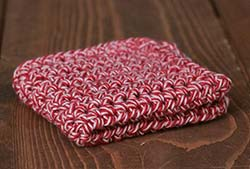 Sock Monkey Red Crochet Dish Cloth