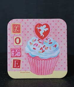 Love and Cupcakes Coaster