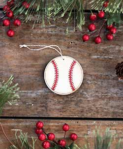 Baseball Ornament (Personalized) - Small