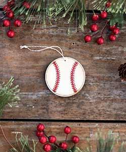 Baseball Ornament (Personalized) - Small