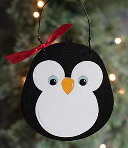 Cute Penguin Ornament (Free Personalization!)