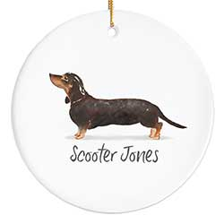 Dachshund Personalized Ornament - Black