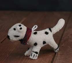 Dalmatian Felt Ornament
