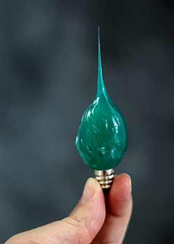Dark Green Colored Silicone Light Bulb (Unscented)
