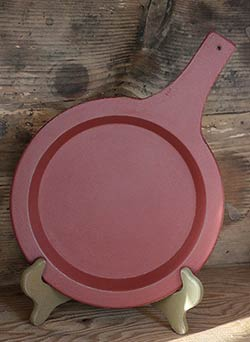 Distressed Wooden Skillet - Tuscan Red