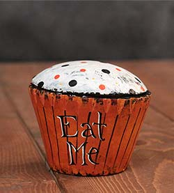 Eat Me Halloween Cupcake (Original Folk Art)