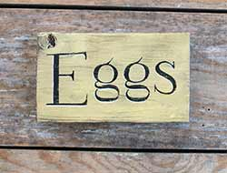 Eggs Wood Sign