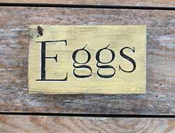 Eggs Wood Sign
