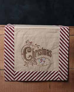 Christmas Candy Cane Table Runner