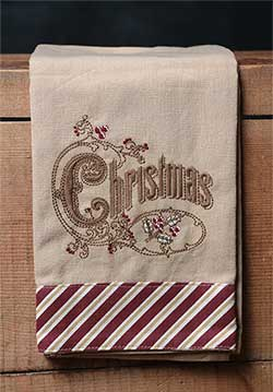 Christmas Candy Cane Towel