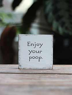 Enjoy Your Poop Distressed Shelf Sitter Sign