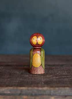 Autumn Owl Mixed Media Art Doll