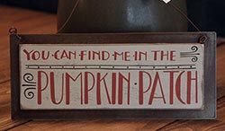 Pumpkin Patch Tin Sign