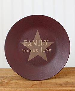 Family Means Love Plate with Star