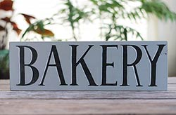 Bakery Wood Sign (Gray & Black)