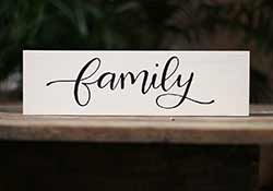 Family Wood Sign
