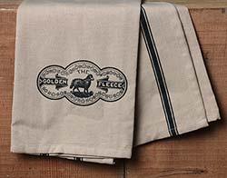 Golden Fleece Dishtowel