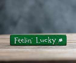 Feelin' Lucky Mini Stick Sign