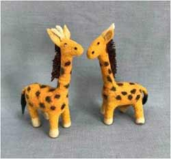 Felted Wool Giraffe