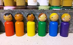 Multiculural Rainbow Peg Doll Set