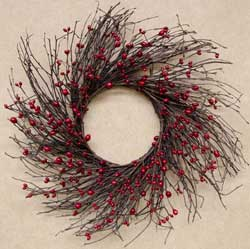 Red Bean Berry Twig Wreath