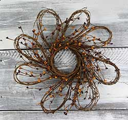 Flower Pip Berry Wreath - 16 inch
