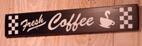Fresh Coffee Handmade Sign - Black