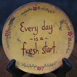 Fresh Start Hand-painted Plate