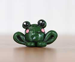 Frog Figure with Pink Cheeks
