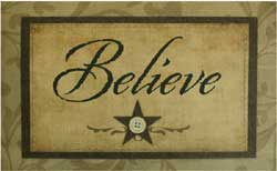 Believe Decorative Floor Mat