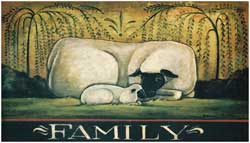 Sheep Family Decorative Floor Mat