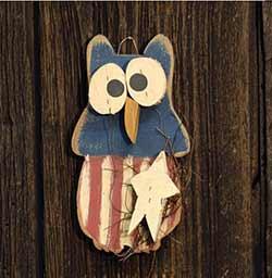 Americana Owl Wall Hanger
