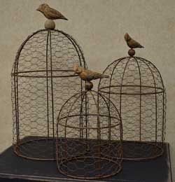 Bird Wire Cloches (Set of 3)