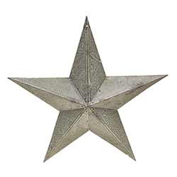 Galvanized Metal Barn Star, 12 inch
