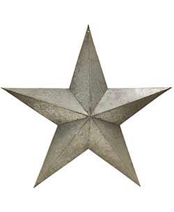 Galvanized Metal Barn Star, 24 inch