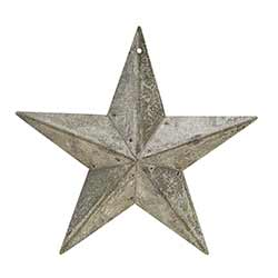 Galvanized Metal Barn Star, 5.5 inch