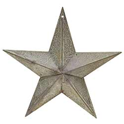 Galvanized Metal Barn Star, 8 inch